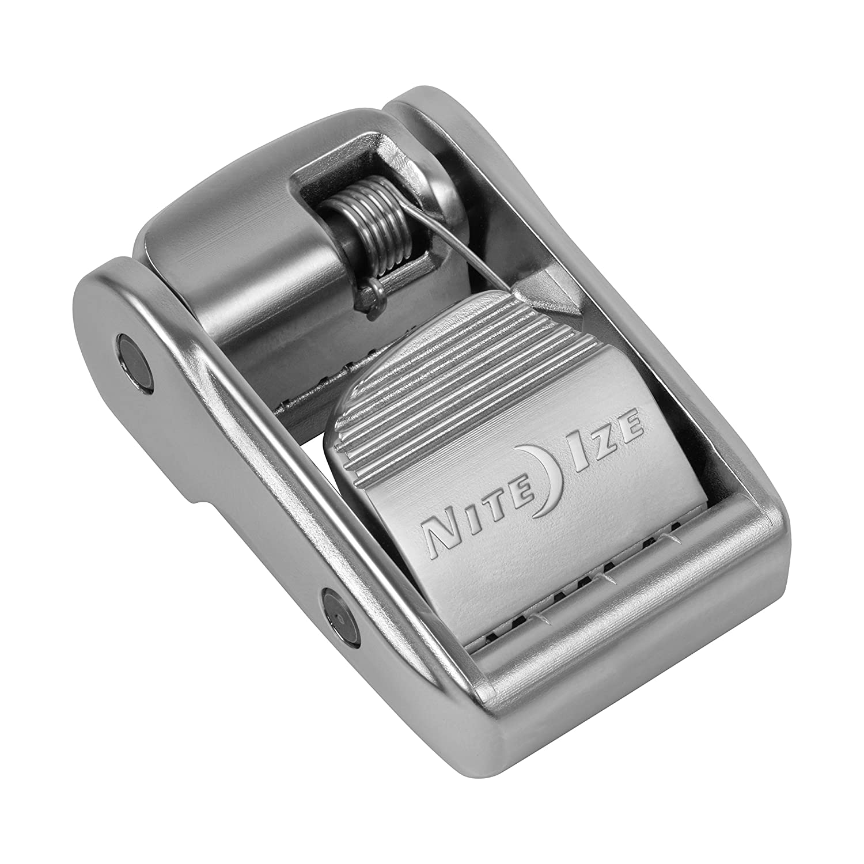 Nite Ize Dual CamJam Webbing Tensioner Patented Dual Cam Zinc Alloy Buckle Fits Standard 1 Webbing 600 LB Load Limit Patented Dual Cam Zinc Alloy Buckle Fits Standard 1 Webbing CJD-11-R3