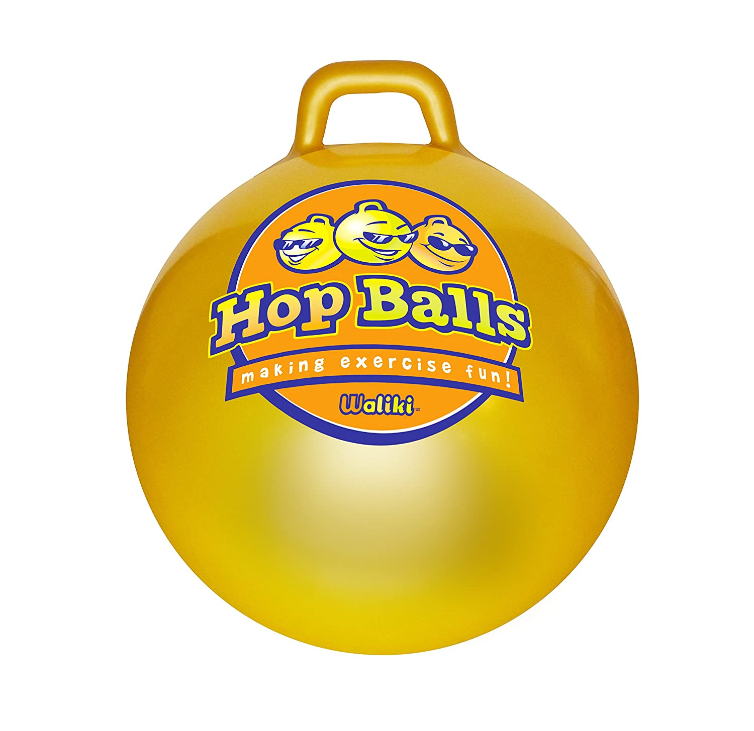 WALIKI Toys Hopper Ball for Kids Ages 3 6 No Pump Hippity Hop Ball Hopping Ball Bouncy Ball with Handles Sit Bounce Kangaroo Bouncer Jumping Ball 18 Inches