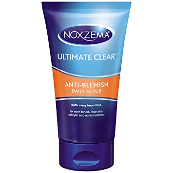 6 Pack - Noxzema Clean Blemish Control Daily Scrub 5 oz Re-Nutriv Ultimate Lift Age-Correcting Creme for Throat and Decollectage 1.7oz