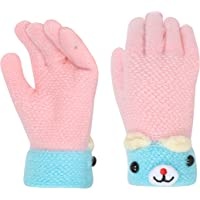 FabSeasons Acrylic Woolen Winter Gloves for Baby Girls & Baby Boys, fits for 5-8 years