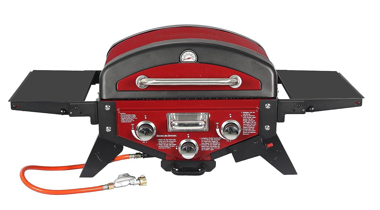 Gasgrill Medison von El Fuego® Tischgasgrill, Farbe Rot, Grill, BBQ, Barbecue