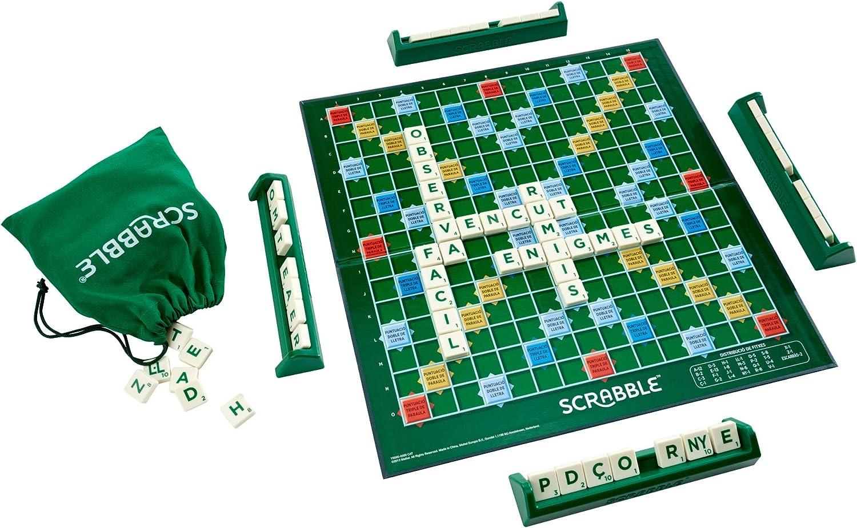 Spanisch Mattel Juegos Brettspiel Scrabble 70 Jubil/äumsversion bunt