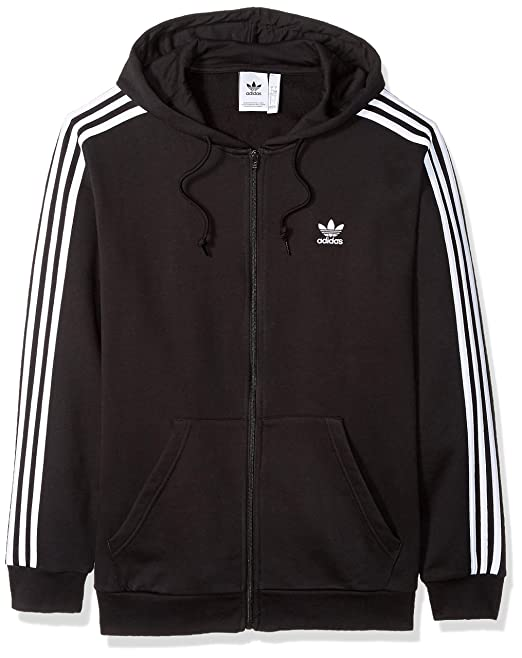 so cheap exquisite style latest adidas Originals Men's 3-Stripes Full Zip Hoodie: Amazon.co ...