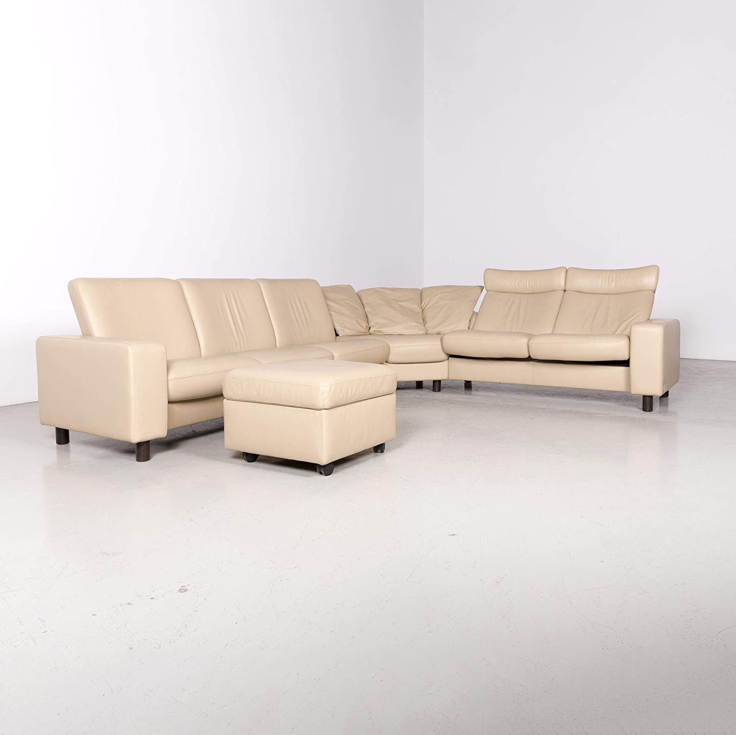 Stressless Arion Designer Leather Corner Sofa Stool Set ...