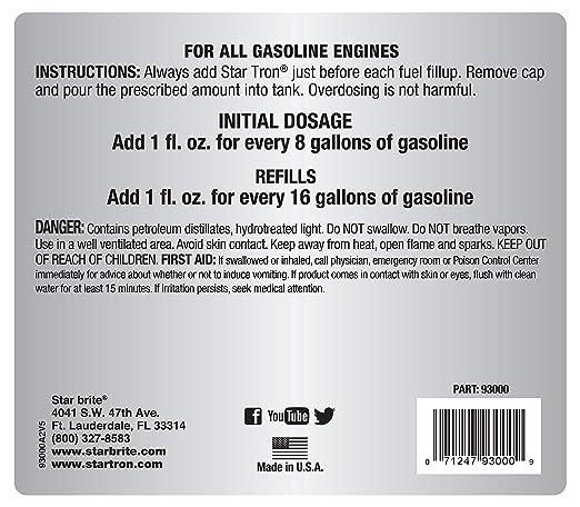 Amazon.com: Star Tron Enzyme tratamiento de combustible ...