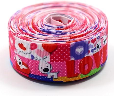 Dog Printed Grosgrain Ribbon Cute Animals Hair Accessories 10 Yards