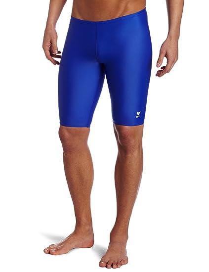 2e6825f5aa Amazon.com : TYR Sport Men's Solid Jammer Swim Suit : Athletic Swim Jammers  : Clothing