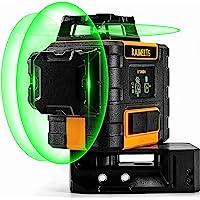 Laserwaterpas 3 x 360° Groen, KAIWEETS Laser Niveau Professioneel Automatisch, USB Opladen, Zelfnivellering en…