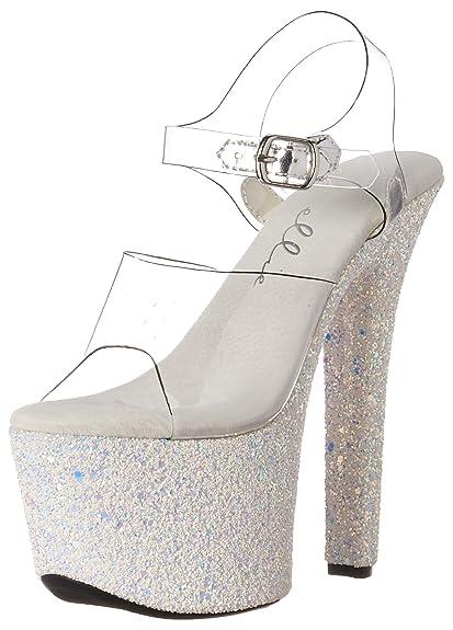 Ellie Shoes Frauen Sandalen mit Absatz Weiss Groesse 8 US  39 EU ... b71946e5f2