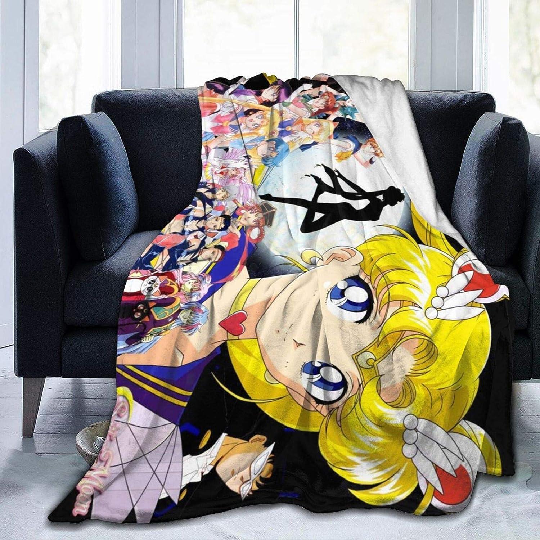 PANMEILI Sailor-Moon Blanket Super Soft Fleece Throw Blankets for Living Room Bedding Sofa Blankets Bedroom Decor Small 50x40 in