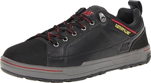 Caterpillar Men's Brode Steel Toe Work Shoe,Black Leather