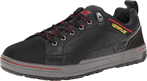 Caterpillar Men's Brode Steel Toe Work Shoe,Black Leather,10.5 M US