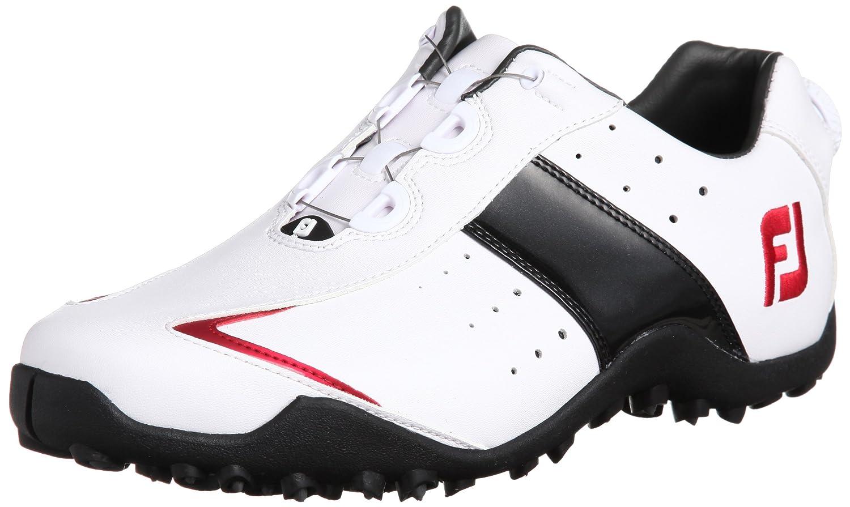 [フットジョイ] FootJoy ゴルフシューズ EXL SPIKELESS BOA B00HYOXYRQ 25 2E ホワイト/ブラック/レッド