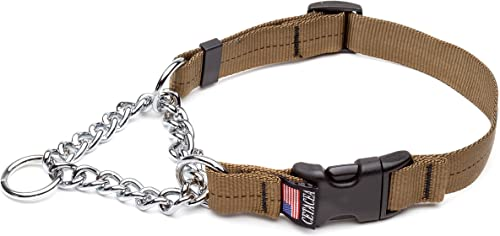 Cetacea Extra Large Adjustable Martingale Chain, 1 , Coyote Brown
