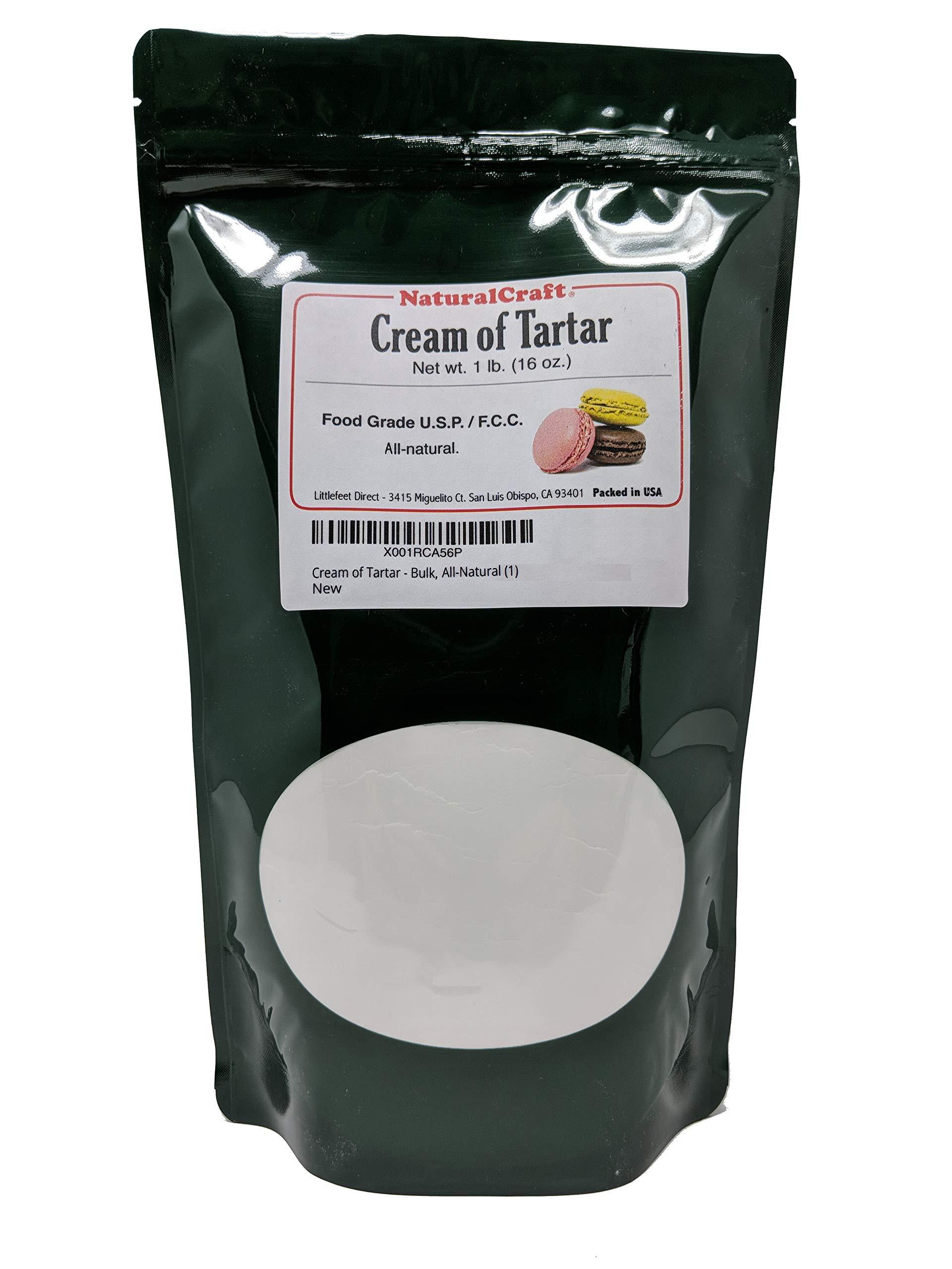 Cream of Tartar, 1LB (16 oz), Bulk, Organic, Powder, Gourmet - All Natural