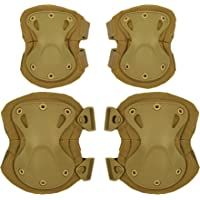 DCCN Airsoft Tactical Protectora Pad Set con Rodilleras
