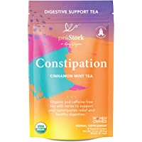Pink Stork Constipation Tea: Cinnamon Mint Laxative Tea, USDA Organic + Constipation Relief with Cardamom + Coriander Seeds, Women- Owned, 30 Cups