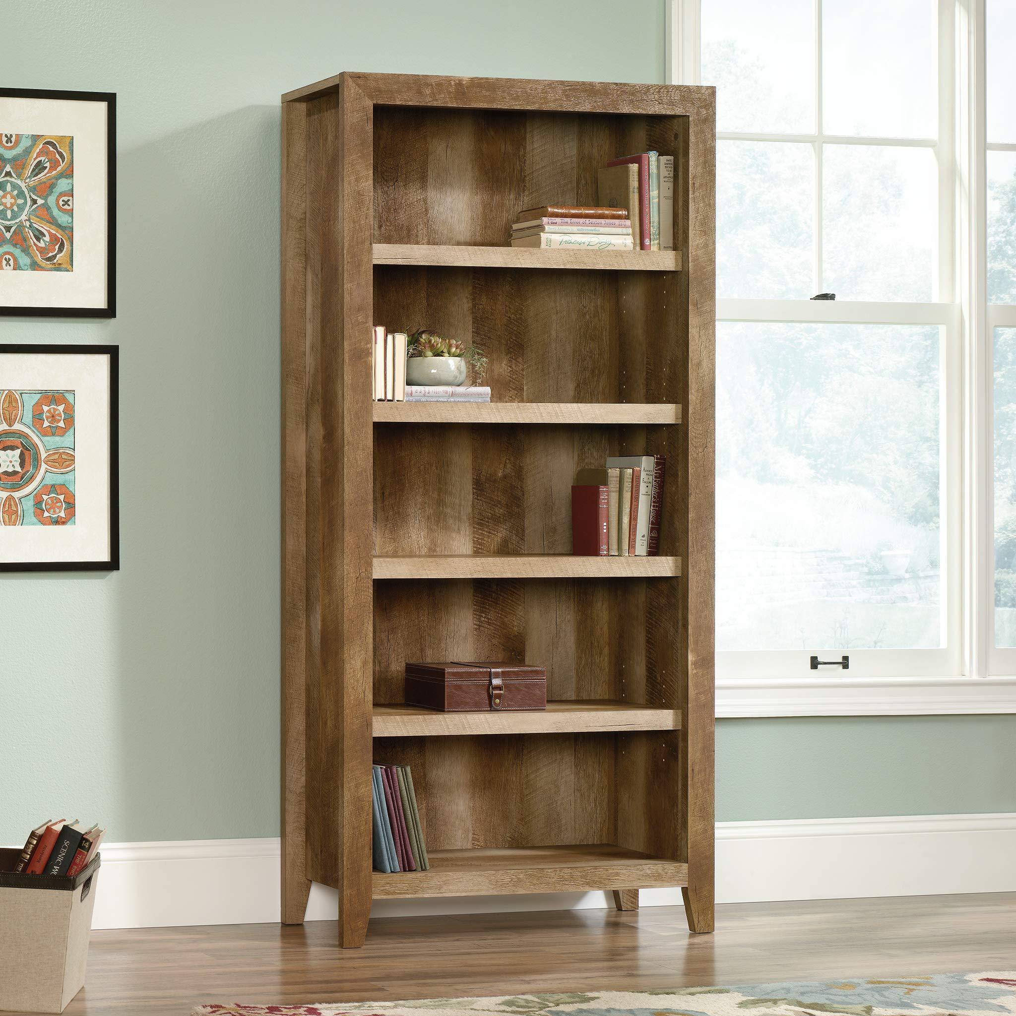 Sauder 418546 Dakota Pass 5-Shelf Bookcase, L: 33.78'' x W: 12.52'' x H: 71.1, Craftsman Oak finish by Sauder (Image #5)