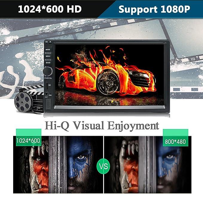 KKXXX KX010 Android Car Estéreo Navegación GPS Quad Core Auto Radio Am FM RDS Enlace de Espejo Soporte AV Salida de Cabeza Reposacabezas BT Llamadas Gratis: ...