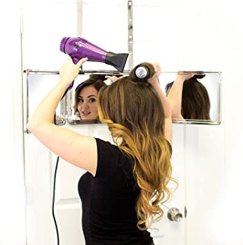 Self Style System , 3 Way Mirror with Adjustable Height Brackets. Full View  Vanity Mirror for