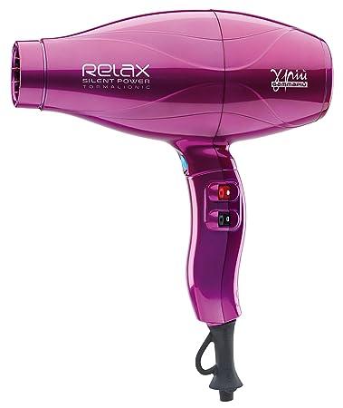 Gamma Piu Relax Silent Power - Secador de pelo, color fucsia: Amazon.es: Salud y cuidado personal