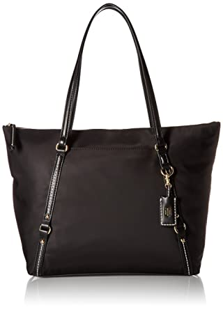 0fae0ba47db Tommy Hilfiger Tote Bag for Women Work Nylon, black: Handbags ...