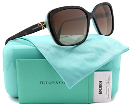 398e2ee5d2d2 Image Unavailable. Image not available for. Color  Tiffany   Co. TF4092  Sunglasses Havana Blue w Brown Gradient (8134