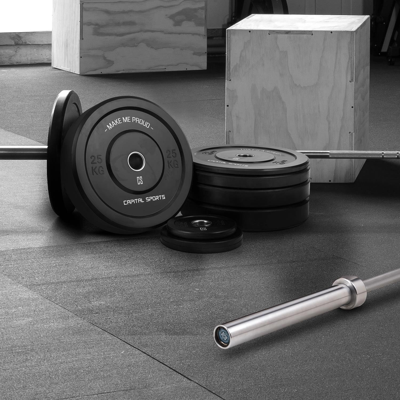 Capital Sports Set completo de entrenamiento (barra para pesas ...