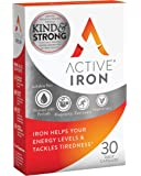 Active Iron | Iron Tablets | Non-Constipating | Ferrous Iron Sulphate Supplement | Clinically Proven | 1-Month Supply