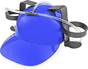 Fairly Odd Novelties Beer Soda Guzzler Helmet Drinking Party Hat, Blue