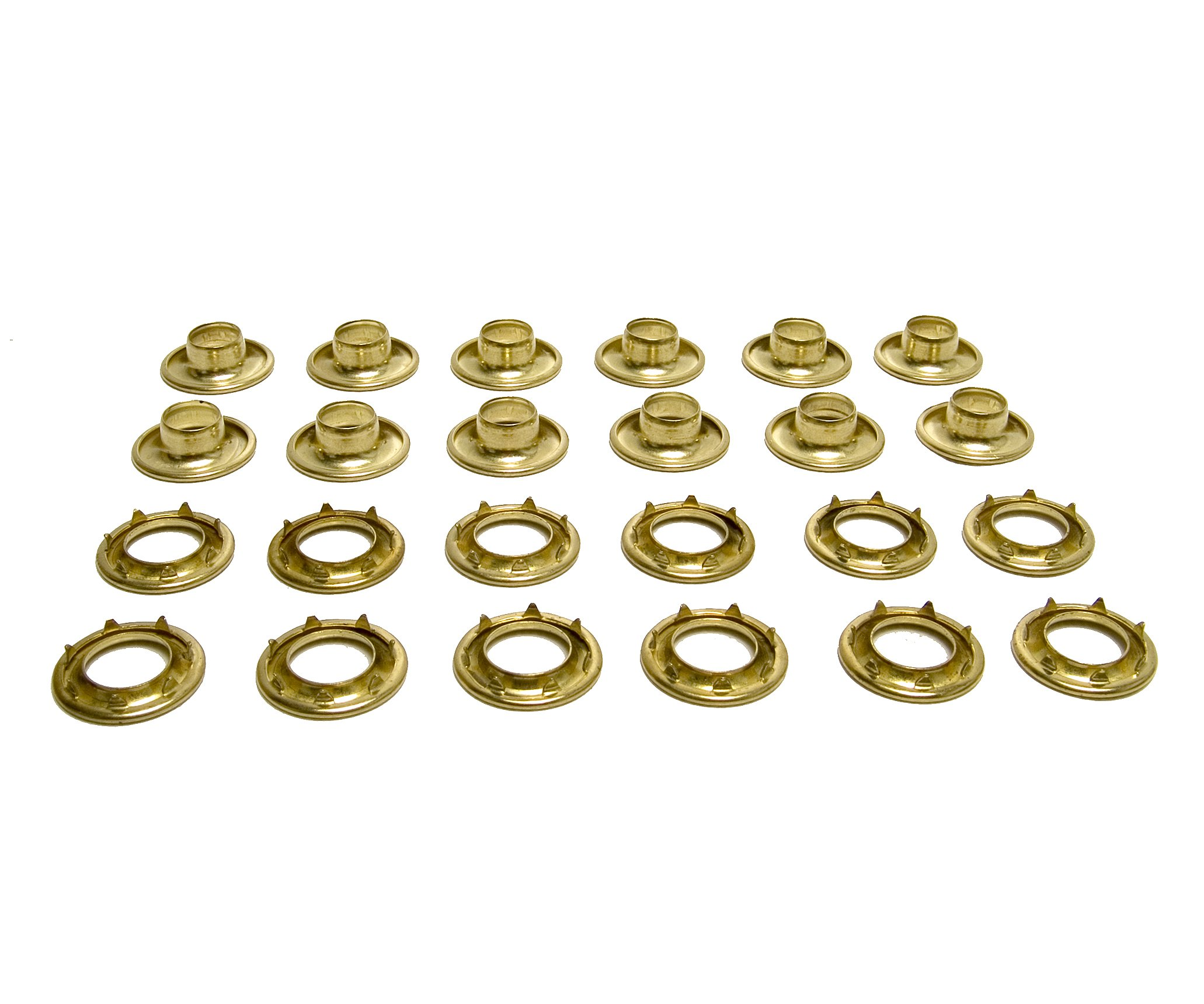 C.S. Osborne Grommets, 3 Brass, Heavy Duty Rolled Rim Spur, 15/32'' Inch Hole