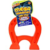 """JA-RU Mega Magnet Toy 4.75"""" Inches (1 Unit Assorted) U Shaped Horseshoe Magnets for Kids and Adults. Educational Stress Relie"""