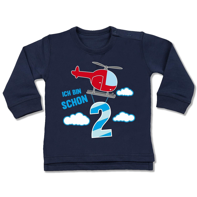 Shirtracer Geburtstag Baby - Ich Bin Schon 2 Hubschrauber - Baby Pullover BZ31
