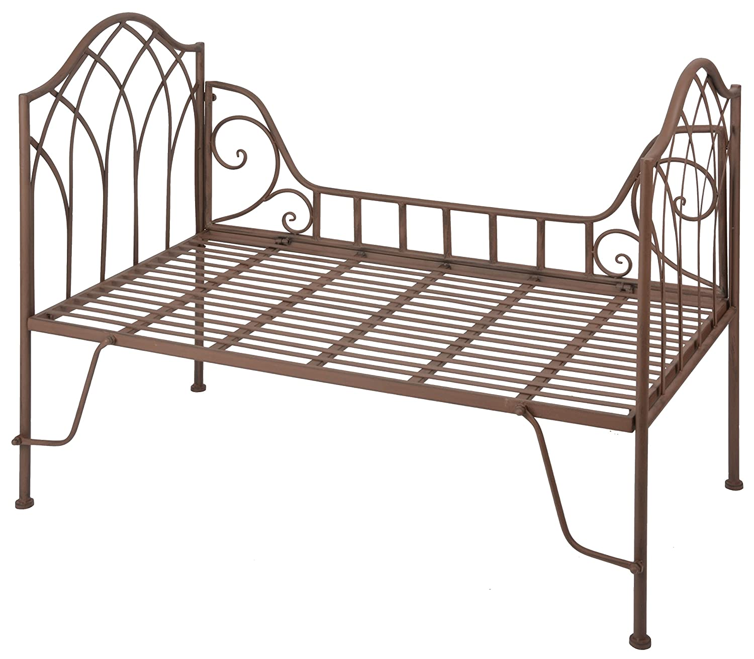 Aged Metal French Day Bed Garden Bed.