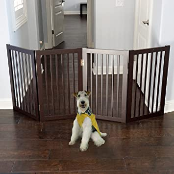 Amazon Com Welland Wood Freestanding Pet Gate Larger Than Others