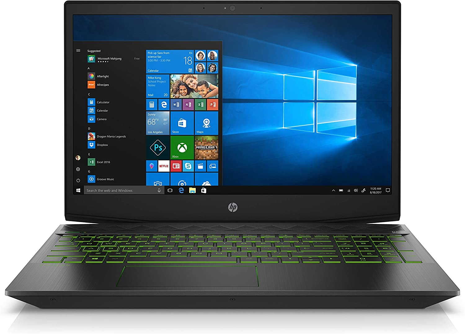 HP Pavilion 15-cx0058wm 15.6in Gaming Notebook - Intel Core i5-8300H, NVIDIA GeForce GTX 1050 4GB GPU, 8GB RAM, 16 GB Intel Optane + 1TB HDD Storage, Windows 10 (Renewed)
