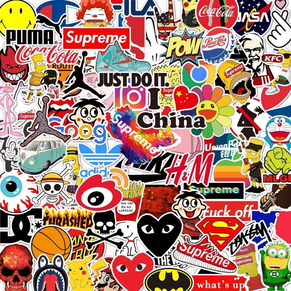 Skateboard Gep/äck Wasserflasche Sticker Erwachsene f/ür Laptop Xbox One Stickerbomb Vintage Sticker Afufu Aufkleber Coole Sticker Pack 100-pcs Vsco Stickers Decals Vinyl Aufkleber