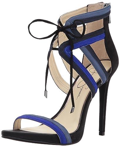 b0e27ee856aa Jessica Simpson Women s RENSA Heeled Sandal Blue Violet 10 Medium US