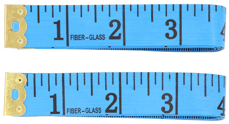 Soft Tape Measure For Sewing - LeBeila 2 Pack Measuring Tape For Body Measurements Flexible Fibre Glass Reverse Side Tailor Cloth Ruler 60/150cm Bulk Prime Dressmaker Rulers (2Pack, Blue) LBL-ZWJUU-10853