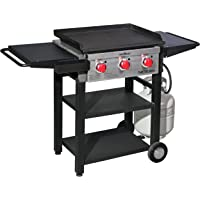 Camp Chef 3-Burner 475 Flat Top Grill w/ 468 sq in Pre-Seasoned Cold Rolled Steel Griddle