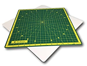 """Skyhawk Self-Healing 14-Inch-by-14-Inch 360° Rotating Cutting Mat for Quilting - 13"""" Grids"""