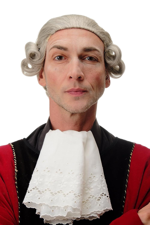 F2588-51 Parrucca di qualit/à Uomo Carnevale Teatro Barocco Lord Nobiluomo Nobile Grigio WIG ME UP /®