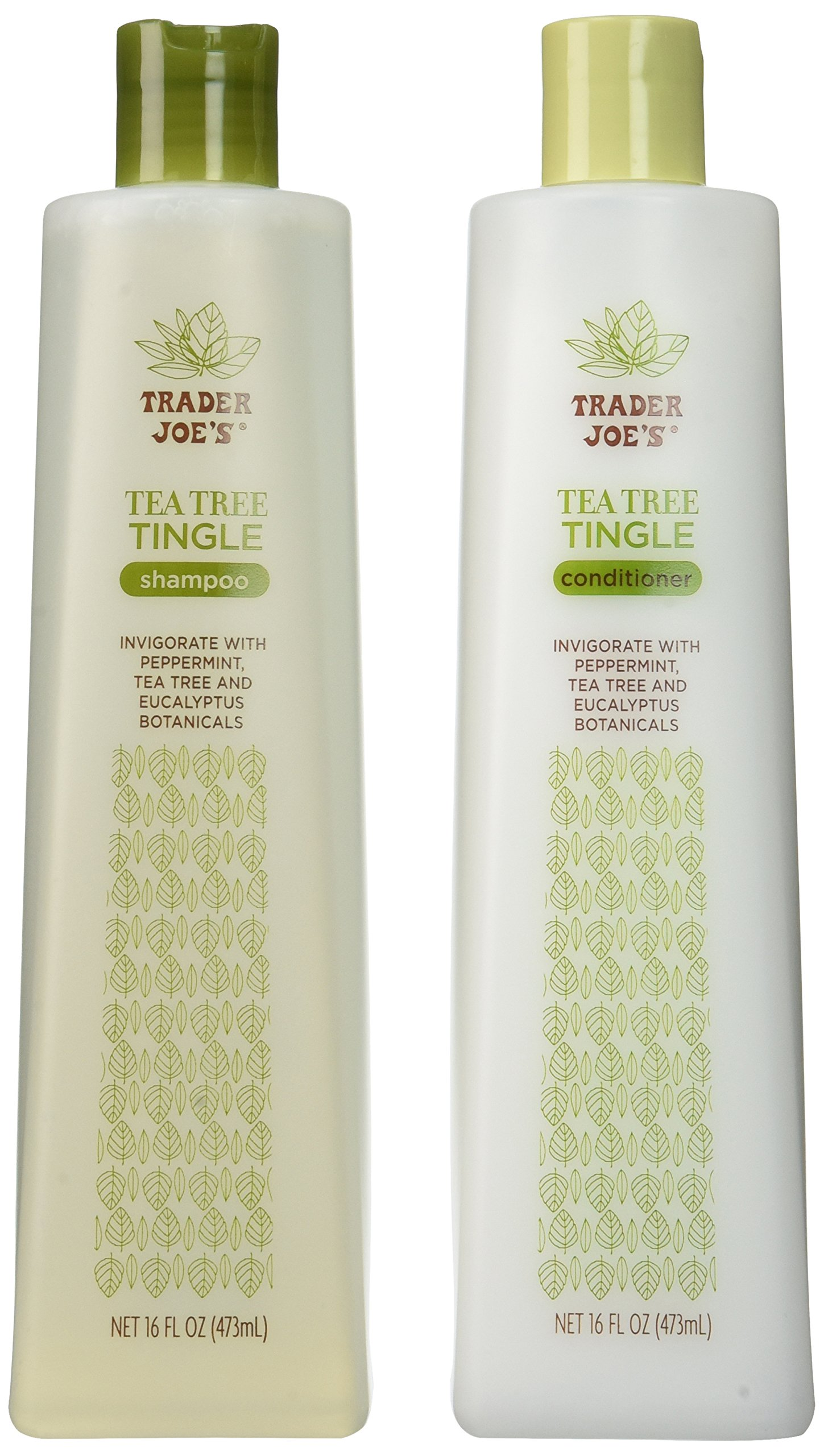 Trader Joe's Tea Tree Tingle Shampoo & Conditioner, 16 oz. by Thinkpichaidai