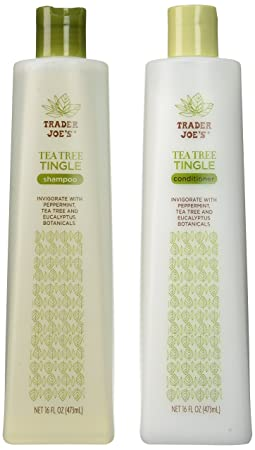 Trader Joe's Tea Tree Tingle Shampoo &Amp; Conditioner, 16 Oz. by Thinkpichaidai