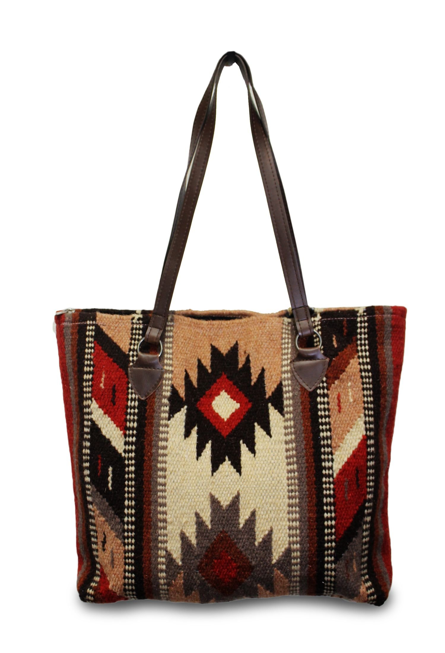 Southwest Boutique Wool Tote Purse Bag Native American Western Style Handwoven (Tempe)