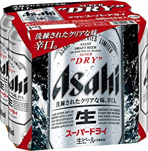 Asahi Super Dry Beer Can 6x500ml