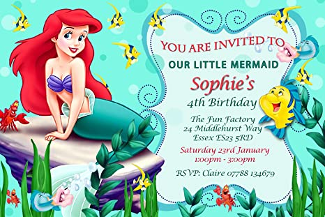 Image Unavailable Not Available For Colour Little Mermaid Birthday Party