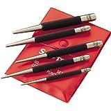 """Starrett S117PC Set of 5 Center Punches, 1/16"""", 5/64"""", 3/32"""", 1/8"""", 5/32"""" Diameters, in Plastic Case"""