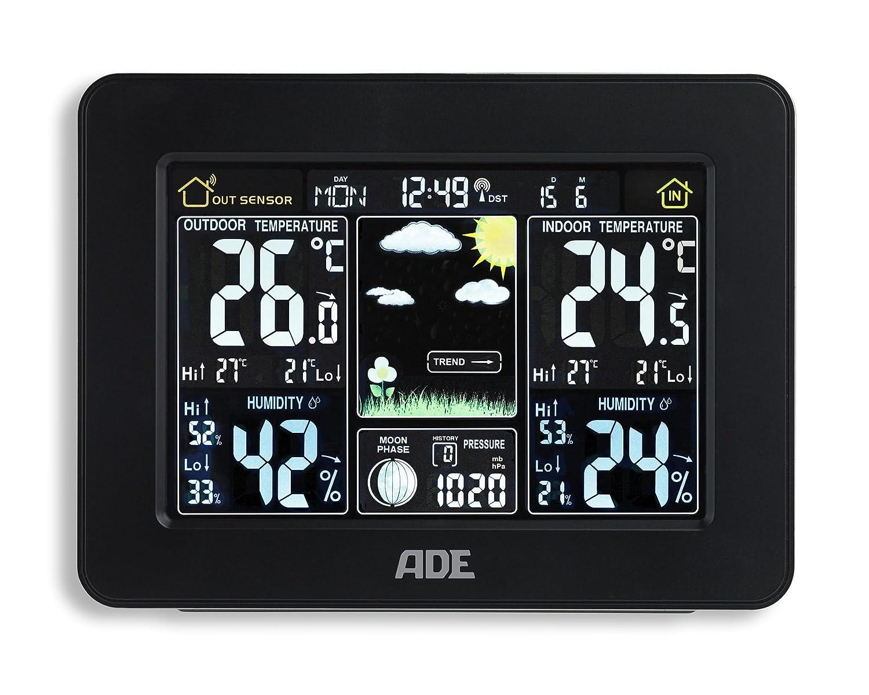 Noir ADE Station m/ét/éo WS 1503/avec Radio et capteur ext/érieur