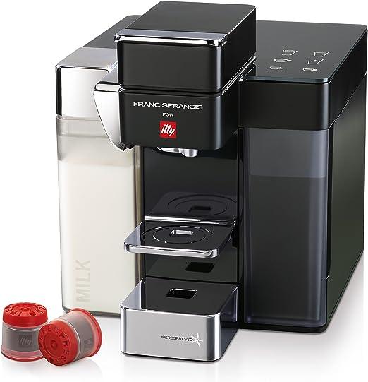 illycaffè Y5 Milk Iperespresso, 0.8 Liters, Aluminio, Gris y negro ...